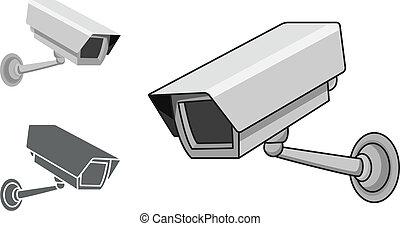 CCTV Camera - A security camera in 3 different styles, in...