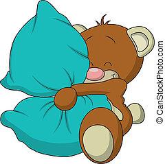 Teddy Bear - An adorable stuffed teddy bear vector, isolated...