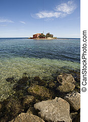 small island in Marzamemi, Siracusa, Sicily, Italy