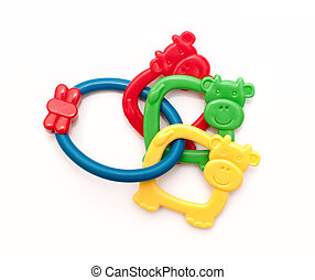 toys for teething, colorful