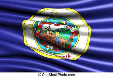 Flag of Minnesota, USA. Close up.
