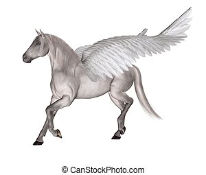 Pegasus the Winged Horse - Pegasus the Flying Horse of Greek...