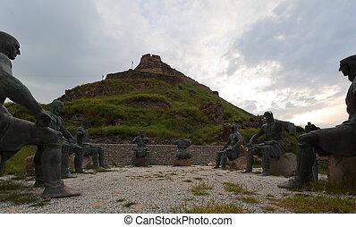 Memorial Georgian Warriors. Georgia - Memorial of Georgian...