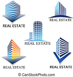 Real estate symbol - Moder real estate symbol set