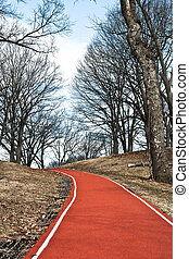 Exercise and walking trail