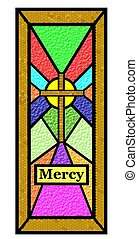 easter mercy stain glass window