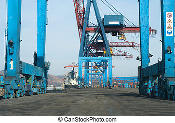 Crane With Containers