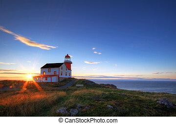 Lighthouse at sunrise.