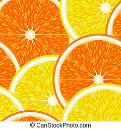 Seamless from fruits - Seamless of the half of fruits(can be...