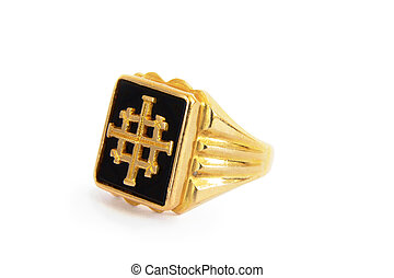 Traditional Ethiopian mens ring - A traditional Ethiopian...