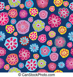 Floral background, seamless pattern with colored flowers