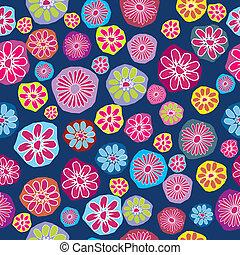 coloreado, patrón,  seamless, Plano de fondo,  floral, flores