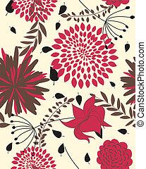 floral, Padrão,  seamless