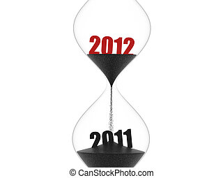 2012 hourglass - 2011 passes and 2012 comes