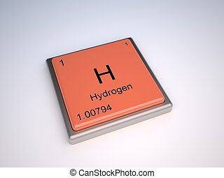Hydrogen chemical element with symbol H