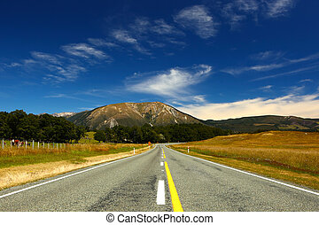 New Zealand Landscape Highway - A view of New Zealands...