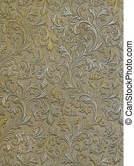 wall texture with with the silver and gold leaves