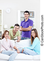 Young people - Attractive young people at home