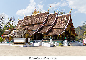 Wat Xieng Thong in Luang Prabang, Laos - Buddhist Temple of...