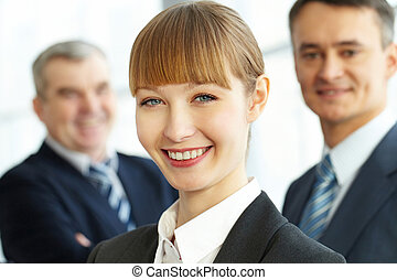 Young manager - Close-up of a beautiful businesswomans...