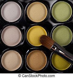 image eyeshadow set with cosmetic brush