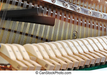 Adjusting piano pitch - Adjusting the piano string tension...