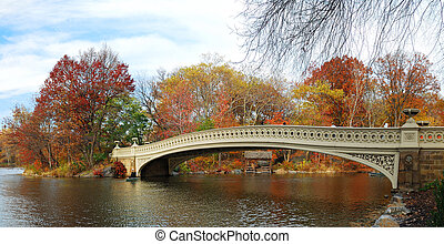 New York City Manhattan Central Park panorama at Autumn