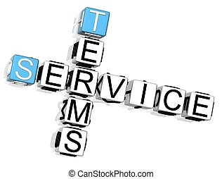 Terms Service Crossword - 3D Terms Service Crossword on...