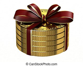 Gift of gold coins.