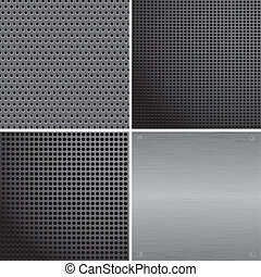 Metall plate - Collect metall plate with hole and rivets,...