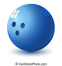 bowling ball - illustration of glossy bowling ball on...