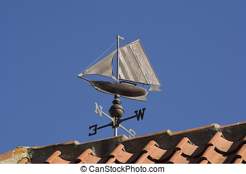 Weather Vane - Sailing Boat - Small sailing boat as a...