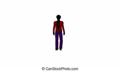 African American Disco Guy Walking - African american disco...