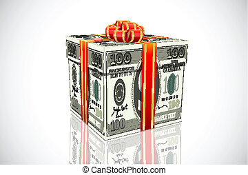 gift made of dollar