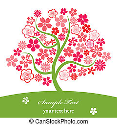 Cherry blossoms - Illustration vector