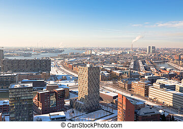 residential and industrial districts view - Rotterdam...