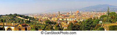 Florence Tuscany panorama - Florence Italy at sunny day...