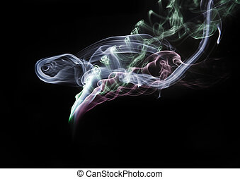 Abstract fantasy smoke texture background - Beautiful...
