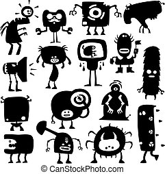 funny monsters - Collection of cartoon funny monsters...