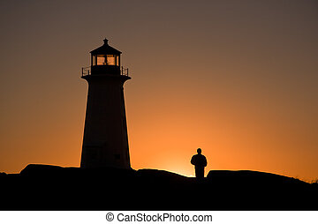 Lighthouse and Figure