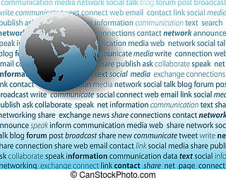 Global communication social media network connection