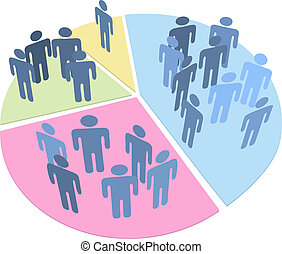 People statistics population data pie chart - Groups of...