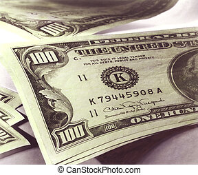 Hundred US dollar bills