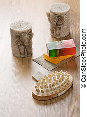 massager candles soap