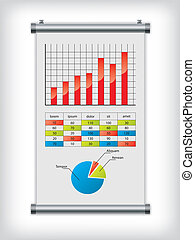 Roll up display with charts