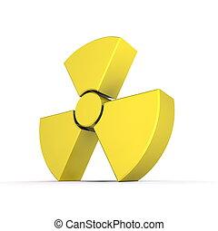 nucleare, Simbolo, baluginante, giallo