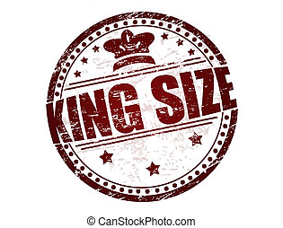 King Size stamp - Grunge rubber stamp with stars, crown and...