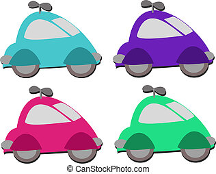 Mix of Car Windup Toys - Here is a cute collection of windup...