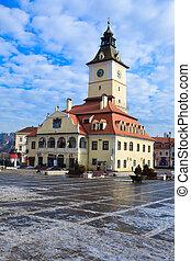 Council Square in Brasov, Romania - wintertime