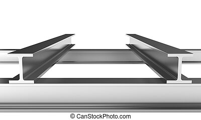 Iron joists - Few iron joists isolated on white background